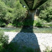 Indian Creek at Doolittle Creek bridge