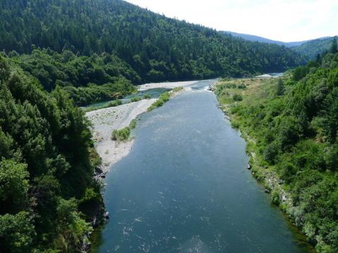 Klamath River at confluence with Trinity River